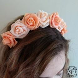 Nr.4 oranžinis gėlių vainikas