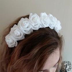 Nr.5 baltas gėlių vainikas